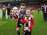 Sheffield United's Daniel Lafferty celebrates during the League One match at Bramall Lane, Sheffield. Picture date: April 30th, 2017. Pic David Klein/Sportimage