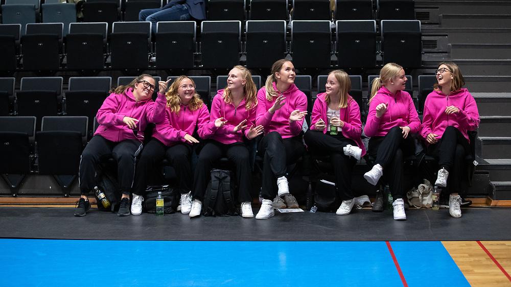 ÖSTERSUND 20210924<br /> Dansarna under fredagens match i Basketligan mellan Jämtland Basket och Nässjö Basket i Östersunds Sporthall<br /> <br /> Foto: Per Danielsson/Projekt.P