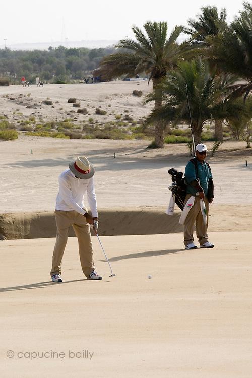 Abu Dhabi, United Arab Emirates (UAE). .March 20th 2009..Al Ghazal Golf Club..36th Abu Dhabi Men's Open Championship..Abdulla Al Musharrekh (left)