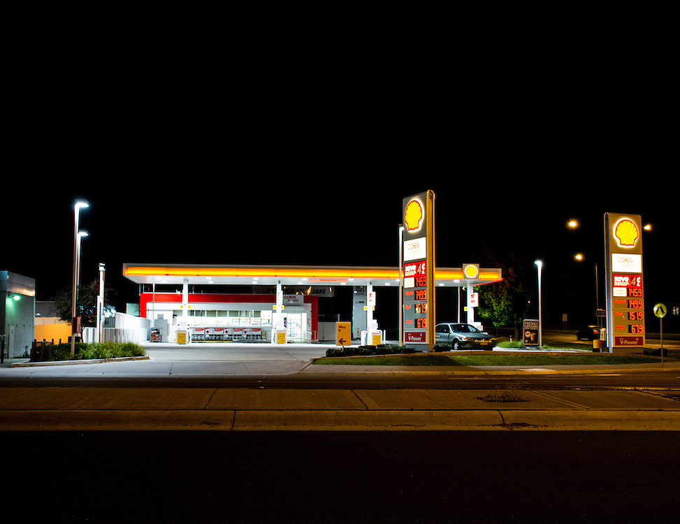This image is part of my series to capture petrol bunks in night ...a urban landscape