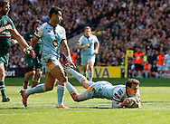 Picture by Andrew Tobin/Focus Images Ltd +44 7710 761829.25/05/2013. Lee DICKSON of Northampton scores his first try in the second half during the Aviva Premiership match at Twickenham Stadium, Twickenham.