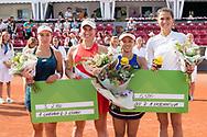 Danka Kovinic, Alexa Guarachi, Misaki Doi, and Natalia Vikhlyantseva during the 2019 Swedish Open in Båstad on July 13, 2019. Photo Credit: Katja Boll/EVENTMEDIA.