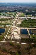 Nederland, Noord-Holland, Hilversum, 28-04-2010; Ecoduct Crailo. Natuurbrug Zanderij Crailoo, onderdeel Goois Natuurreservaat, verbindt Spanderswoud en Bussumerheide..Ecoduct Crailo, Natural Bridge Sandpit Crailoo, part Nature Reserve..luchtfoto (toeslag), aerial photo (additional fee required).foto/photo Siebe Swart