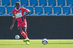 Prøvespilleren Brandon Onkony (FC Helsingør) under træningskampen mellem FC Helsingør og HIK den 1. august 2020 på Helsingør Ny Stadion (Foto: Claus Birch).