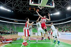 Boban Marjanovic #13 of KK Crvena Zvezda Beograd during basketball match between KK Union Olimpija Ljubljana and KK Crvena Zvezda Beograd in 4th Round of ABA League 2013/14 on October 20, 2013 in Arena Stozice, Ljubljana, Slovenia. (Photo by Urban Urbanc / Sportida.com)