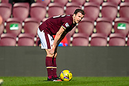 Andy Halliday (#16) of Heart of Midlothian FC during the SPFL Championship match between Heart of Midlothian and Inverness CT at Tynecastle Park, Edinburgh Scotland on 24 April 2021.
