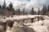The River of Golden Dreams, a snowy winter day, in Whistler, BC CANADA