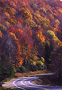 PA landscapes, North Central Pennsylvania, autumn color, mountain road