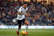 Ryan Fredericks of Fulham in action. EFL Skybet football league championship match, Fulham v Millwall at Craven Cottage in London on Saturday 25th November 2017.<br /> pic by Steffan Bowen, Andrew Orchard sports photography.