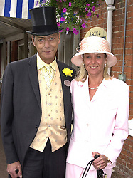 MR & MRS DAVID CECIL brother of trainer Henry<br />  Cecil, at Royal Ascot on 21st June 2000.OFP 46<br /> © Desmond O'Neill Features:- 020 8971 9600<br />    10 Victoria Mews, London.  SW18 3PY <br /> www.donfeatures.com   photos@donfeatures.com<br /> MINIMUM REPRODUCTION FEE AS AGREED.<br /> PHOTOGRAPH BY DOMINIC O'NEILL