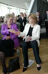 Nicole Sturgeon elected deputy leader. The SNP leadership election result at Dynamic Earth, 3/9/2004.