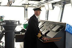 HMS Queen Elizabeth, Rosyth,24-5-2016        <br /> <br /> Cpt Kid on the bridge<br /> <br /> (c) David Wardle   Edinburgh Elite media