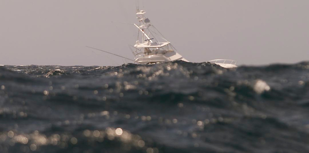 (SPORTS) Ocean City MD. 8/4/2003  Large swells to 8 feet made large fishing vessels virtually disappear ( acually did from view but that would be a photo1) from view as they fished around the Canyon Runner.   Michael J. Treola Staff Photographer.........MJT