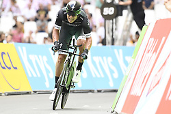 July 22, 2017 - Marseille, FRANCE - Poland's Maciej Bodnar of Bora - Hansgrohe crosses the finish line with the fastest time for the moment, in the twentieth stage of the 104th edition of the Tour de France cycling race, an individual time trial in Marseille, France, Saturday 22 July 2017. This year's Tour de France takes place from July first to July 23rd...BELGA PHOTO YORICK JANSENS (Credit Image: © Yorick Jansens/Belga via ZUMA Press)