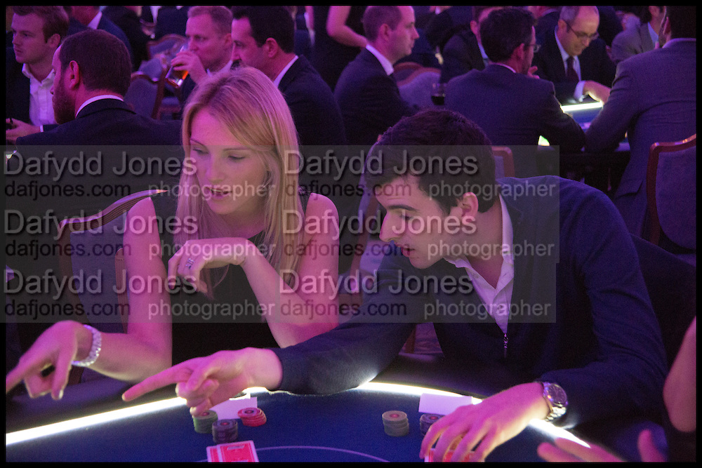 LAURA OREMOND; GEORGE EGGINS, Quintessentially Foundation Poker Night,  annual poker night,  to raise money for Right to play, Greenhouse and Place2Be. Savoy. 13 November 2014.