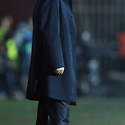 Trabzonspor's coach Senol GUNES during their UEFA Champions League group stage matchday 5 soccer match Trabzonspor between Inter at the Avni Aker Stadium at Trabzon Turkey on Tuesday, 22 November 2011. Photo by TURKPIX