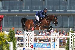 De Ponnat Aymeric (FRA) - Armitage Boy<br /> Grand Prix de L'Hippodrome De Wallonie-Mons<br /> CSI4* Mons 2013<br /> © Hippo Foto - Counet Julien