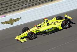 April 30, 2018 - Indianapolis, IN, U.S. - INDIANAPOLIS, IN - APRIL 30: Simon Pagenaud (22) during an Open Test on April 30, 2018, at the Indianapolis Motor Speedway in Indianapolis, IN. (Photo by James Black/Icon Sportswire) (Credit Image: © James Black/Icon SMI via ZUMA Press)