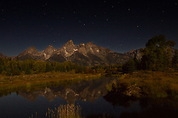 """Midnight at Shwabacker Landing, Grand Teton National Park<br /> <br /> For production prints or stock photos click the Purchase Print/License Photo Button in upper Right; for Fine Art """"Custom Prints"""" contact Daryl - 208-709-3250 or dh@greater-yellowstone.com"""