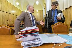 PM ANDREA MAGGIONI E AVVOCATO GIANLUCA BELLUOMINI<br /> UDIENZA PROCESSO IGOR VACLAVIC NORBERT FEHER A FERRARA