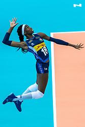 16-10-2018 JPN: World Championship Volleyball Women day 17, Nagoya<br /> Italy - Serbia / Paola Ogechi Egonu #18 of Italy