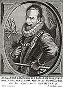 Alexander Farnese (son of Octavio Farnese and Margaret of Austria) born 1544, From 1578-1592 Governor of the Netherlands. Died 1592.