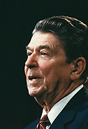 President Ronald Reagan speaking to private supporters in Tokyo in May 1986<br />Photo by Dennis Brack