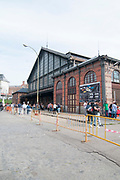 Madrid-Delicias railway station. Now the house of the Museo del Ferrocarril (Railway Museum) in Madrid, Spain