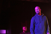 New York, NY-January 26: (L-R) Recording Artist Robert Glasper and Recording Artist Common perform during the Robert Glasper Grammy Joint 2018 featuring the new project called August Greene featuring Common, Robert Glasper and Karriem Riggins held at the Highline Ballroom on January 26, 2018 in New York City.  (Photo by Terrence Jennings/terrencejennings.com)