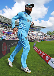 England's Jonny Bairstow makes his way onto the pitch for the start of the mach during the ICC Cricket World Cup Warm up match at The Hampshire Bowl, Southampton.