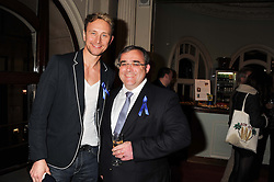 Left to right, Dancer IAN WAITE and NEIL SWAN Chief Executive Officer at Starlight at an after show party following the 1st preview show of the new show Top Hat in aid of the charity Starlight held at the Aldwych Theatre, London on 19th April 2012.