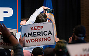 """DULUTH, MN – SEPTEMBER 9: Donald Trump, Jr. takes a photo with the crowd following his """"Make America Great Again"""" rally in Duluth, Minnesota on Wednesday, Sept. 9, 2020."""