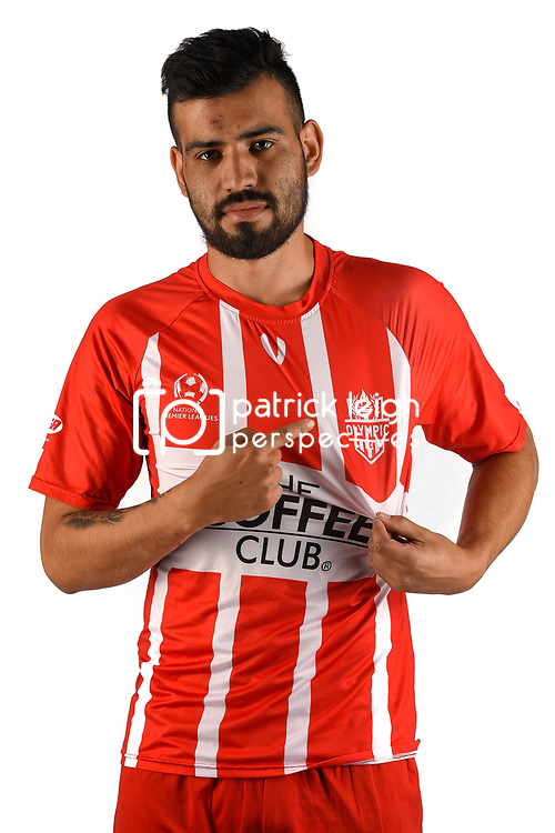 BRISBANE, AUSTRALIA - MAY 25: James Cuminao of Olympic poses for a photo during the Olympic FC Headshot session on May 25, 2018 in Brisbane, Australia. (Photo by Patrick Kearney)