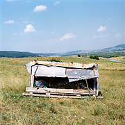 In the lower valleys in Saxon Transylvania shepherds often sleep in 'busca', individual portable sleeping compartments whilst looking after the sheep in the summer months.