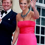 NLD/Apeldoorn/20070901 - Viering 40ste verjaardag Prins Willem Alexander, Maxima zwaaiend