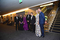 December 10, 2016 - Colombia President Juan Manuel Santos and his family attend the Grand Hotel Oslo Nobel Peace Prize Banquet, a banquet which was also attended by a number of political and business celebrities as well as by some former victims of the Colombian civil war (Credit Image: © Abdelwaheb Omar/ImagesLive via ZUMA Wire)