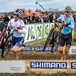 20190201: UCI CX Worlds : Dübendorf: Ben Tullet fighting to gain positions after a totally missed start