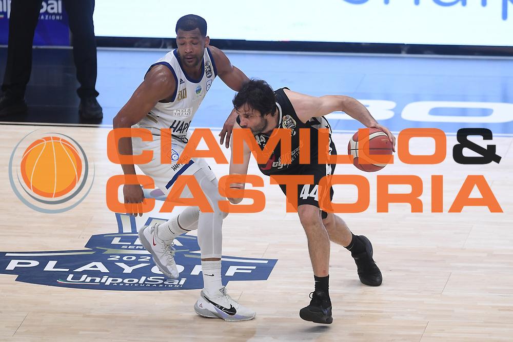 Teodosic Milo<br /> Segafredo Virtus Bologna - Happy Casa Brindisi<br /> Semifinali - Gara 3<br /> Legabasket Serie A UnipolSAI 2020/2021<br /> Bologna, 02/06/2021<br /> Foto GiulioCiamillo / Ciamillo