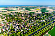 Nederland, Noord-Holland, Hollands Kroon, 07-05-2018; Slootdorp, dorp in de Wieringermeer gelegen aan de A7.<br /> Polder village, Wieringermeer polder.<br /> luchtfoto (toeslag op standaard tarieven);<br /> aerial photo (additional fee required);<br /> copyright foto/photo Siebe Swart