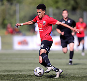 Lyle Matthysen of Canterbury United.<br /> ISPS Handa Men's Premiership football match between Canterbury United and Auckland City at English Park in Christchurch on Sunday 13 December 2020. © Copyright image by Martin Hunter / www.photosport.nz
