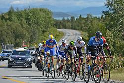 August 11, 2016 - Rognan, Norway - Norway's Krister Hagen from Team Coop-Oster Hus leads the breakaway of riders during the opening stage of the Arctic Race of Norway from Bodo to Rognan..On Thursday, 11 August 2016, in Rognan, Norway. (Credit Image: © Artur Widak/NurPhoto via ZUMA Press)