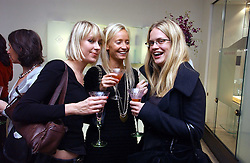 Left to right, TICKY HEDLEY-DENT, MARTHA WARD and CAMILLA LONG at a party in aid of Age Concern hosted by Boodles, 1 Sloane Street, London on 31st October 2006.<br /><br />NON EXCLUSIVE - WORLD RIGHTS