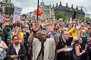 The People's Assembly Against Austerity 'End Austerity Now' demonstration attended by over 250,000 people on Saturday 20th of June 2015 sending a clear message to the Tory government; demanding an alternative to austerity and to policies that only benefit those at the top. London, UK.