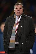 Sam Allardyce, the Sunderland manager looks on .Barclays Premier league match, Crystal Palace v Sunderland at Selhurst Park in London on Monday 23rd November 2015.<br /> pic by John Patrick Fletcher, Andrew Orchard sports photography.