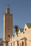 Tower of mosque in the Old Medina, Casablanca, Morocco