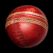 Old red cricket ball