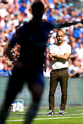 Manchester City manager Pep Guardiola looks on - Rogan/JMP - 05/08/2018 - FOOTBALL - Wembley Stadium - London, England - Chelsea v Manchester City - The FA Community Shield.