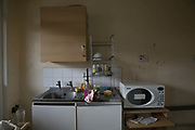 Derelict building during the regeneration of Thrayle House in Lambeth on 29th July 2015 in South London, United Kingdom.