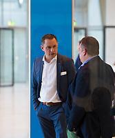 DEU, Deutschland, Germany, Berlin, 12.02.2019: Tino Chrupalla (MdB, AfD, Alternative für Deutschland) vor einer Fraktionssitzung der AfD-Bundestagsfraktion im Deutschen Bundestag.