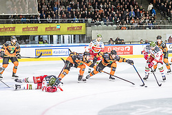 10.03.2019, Merkur Eisstadion, Graz, AUT, EBEL, Moser Medical Graz 99ers vs HCB Suedtirol Alperia, Platzierungsrunde, 54. Runde, im Bild v.l.: Kevin Moderer (Moser Medical Graz 99ers), Peter Robin Weihager (Moser Medical Graz 99ers), Daniel Frank (HCB Südtirol Alperia) // during the Erste Bank Eishockey League 54th round match between Moser Medical Graz 99ers and HCB Suedtirol Alperia at the Merkur Eisstadion in Graz, Austria on 2019/03/10. EXPA Pictures © 2019, PhotoCredit: EXPA/ Dominik Angerer